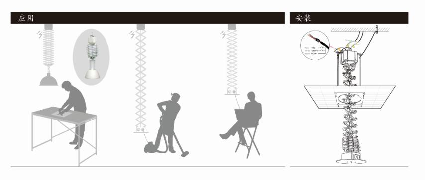 伸缩型升降器应用场景安装图