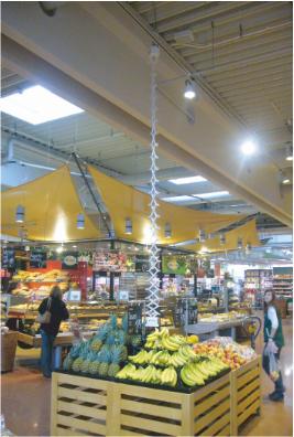 伸缩型升降器超市场景案例图片2