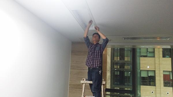 国家电网公司办公室照明工程现场